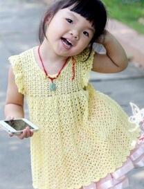 可爱小飞袖娃娃衫钩针编织教程