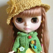 Blythe小布娃娃夏季帽子钩编教程
