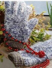 送给父母的温暖牌手套 棒针编织教程