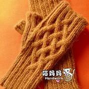 时尚分指半截手套编织教程