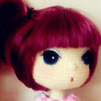 用假发片做玩偶头发 玩偶制作基础教程系列(2)毛线玩偶头发制作教程