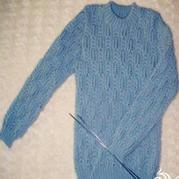 从上往下织非插肩男士套头毛衣棒针编织教程
