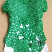 儿童时尚百搭爱尔兰小开衫外套 钩针编织