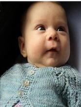 婴幼儿镂空花纹针织开衫 棒针编织翻译教程