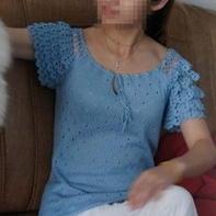 真丝钩织结合夏季清凉衫 女士夏日编织毛衣款