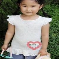 女童小飞袖夏季针织套头衫 儿童棒针编织毛衣款式
