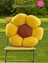 超级适合新手的可爱向日葵靠垫 棒针编织翻译教程