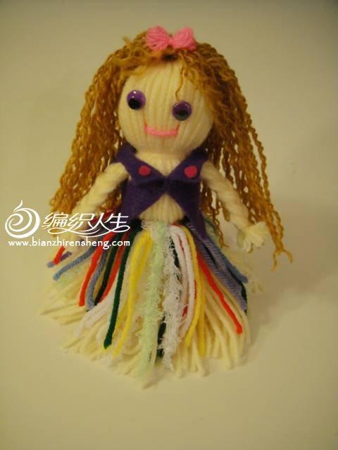 亲子手工毛线娃娃