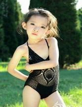 超有范儿的小美女钩编性感泳衣 有详细图解