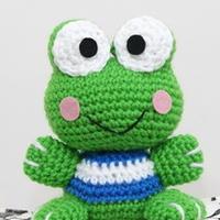 大眼青蛙可洛比keroppi 钩编玩偶翻译教程