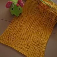 交替方格花纹蕾丝罩衣 钩针编织夏日镂空衫