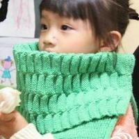 时尚女童棒针编织披肩