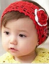 宝宝配饰小物之钩编花朵发带