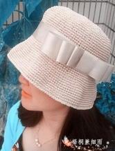 棉草钩编女士遮阳帽 渔夫帽