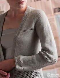 女士轻薄简洁棒针编织开衫