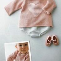 亲亲宝贝装 爱心婴幼儿棒针毛衣