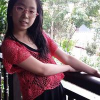 女童蕾丝亮片拼花罩衫 钩针编织