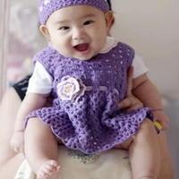 可爱婴童背心裙 钩针编织
