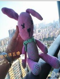 可爱编织玩偶兔子 钩针编织