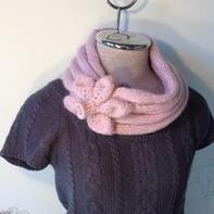 ECHO之多国围巾集第二站:日本-樱花围脖 棒针编织