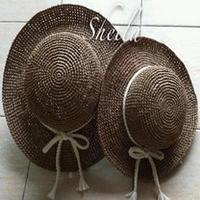 朴素至美--亲子帽 钩针编织棉草亲子帽