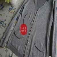 可与机织相媲美的手织银灰开衫 棒针编织
