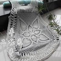 简单两片方块花型成就夏季清凉美衣 钩针编织
