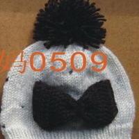 蝴蝶结饰物套装之帽子说明教程 棒针编织