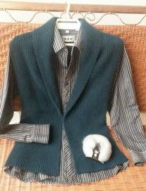 简单时尚大气男士开襟有领背心 棒针编织