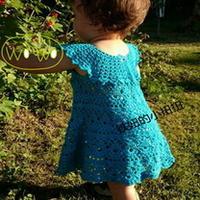 婴幼儿从上往下钩可爱小裙 钩针编织