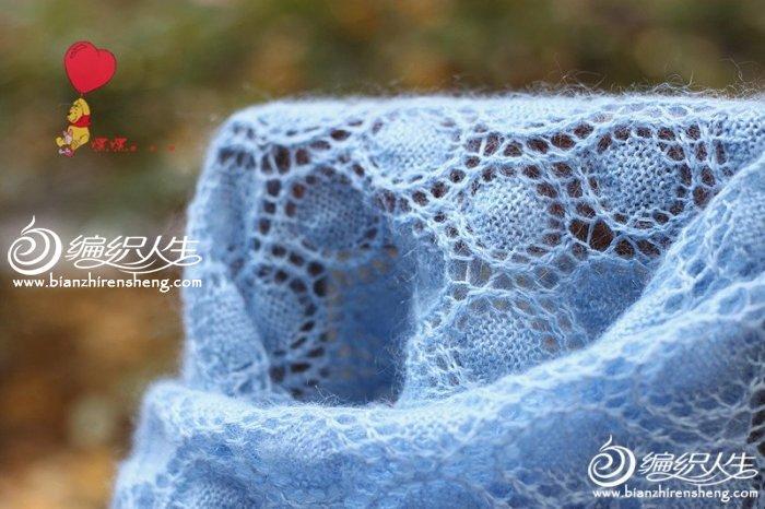 圆满 镂空棒针编织蕾丝围巾披肩