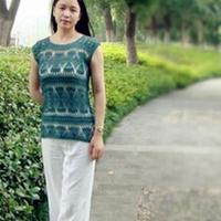 夏之绿漾 钩针编织女士粗蕾丝套衫