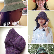 清凉夏日 钩针编织夏季纸线遮阳帽