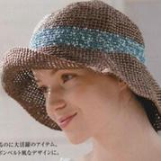 钩针编织女士和纸太阳帽遮阳夏凉帽
