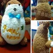 棒针编织龙猫 棒针编织玩偶玩具教程