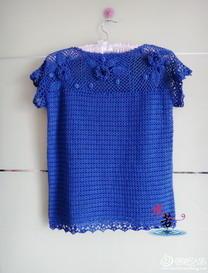钩针编织爱尔兰蕾丝一字领罩衣