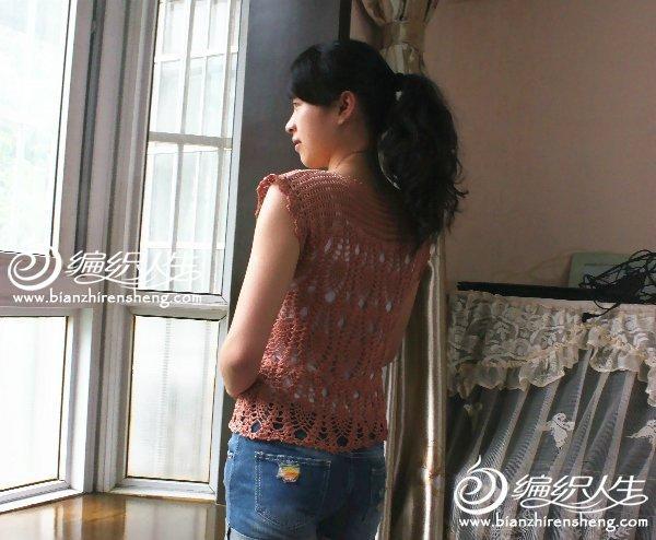钩针编织菠萝花样休闲罩衫