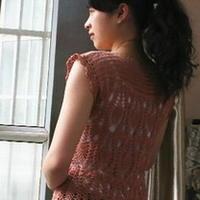 石美人 钩针编织菠萝花样休闲罩衫