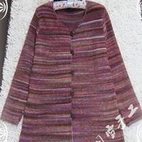 秋色朝霞 棒针编织秋冬外套开衫