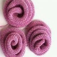简单易制的针织立体玫瑰花 棒针编织花样