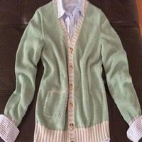 纯棉男童针织开衫 棒针编织儿童毛衣
