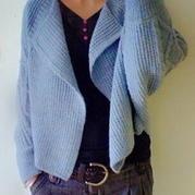斗篷蝙蝠式秋冬开衫外套 棒针编织女士毛衣