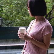 连袖开衫式马甲背心 棒针编织女士毛衣