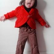 phildar女童圆摆短款小外套 棒针编织童装翻译教程