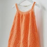 轻薄埃及棉女童吊带衫 钩针编织儿童服饰