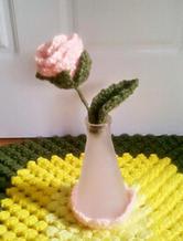 居家巧装饰 钩针编织玫瑰花束