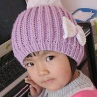 简单美丽的棒针编织儿童帽子