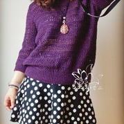 金丝羊毛极简棒针编织女士套衫