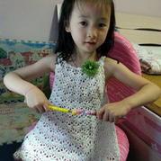 纯色钩针编织女童小吊带