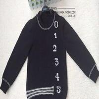 3-5岁时尚数字儿童棒针毛衣